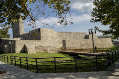 Ruins of medieval fortress  in Drobeta Turnu-Severin. Royalty Free Stock Photography