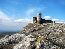 Ruins of medieval fortress Enisala Stock Photo
