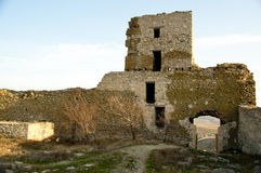 Ruins of medieval fortress Enisala Royalty Free Stock Photo