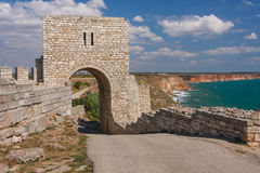 Ruins of the medieval fortress of Kaliakra Royalty Free Stock Photo