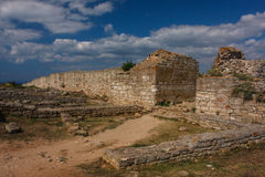 Ruins of the medieval fortress of Kaliakra Stock Photos