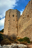 The ruins of the medieval fortress of the Knights Royalty Free Stock Photo