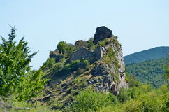 Ruins of the medieval fortress Liteni. Stock Photography