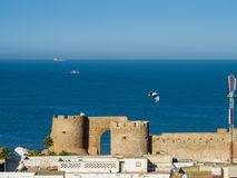 Ruins of medieval fortress in Safi royalty free stock photography