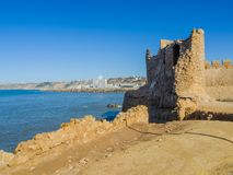 Ruins of medieval fortress in Safi stock photo
