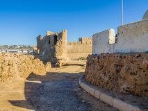 Ruins of medieval fortress in Safi stock photography
