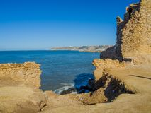 Ruins of medieval fortress in Safi stock image