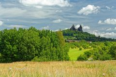 Ruins of medieval gothic castle Trosky Royalty Free Stock Photography