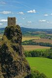 Ruins of medieval gothic castle Trosky Royalty Free Stock Image
