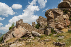 Ruins of the medieval Markovi Kuli castle Stock Photo