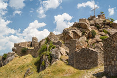 Ruins of the medieval Markovi Kuli castle Stock Photography