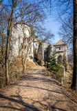 Ruins of Ojcow castle in Poland Royalty Free Stock Image