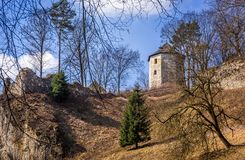 Ruins of Ojcow castle in Poland Royalty Free Stock Images