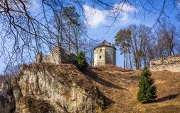 Ruins of Ojcow castle in Poland Stock Photography