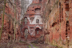 The ruins of the medieval Teutonic castle Balga. In the Kaliningrad region. Russia Royalty Free Stock Images