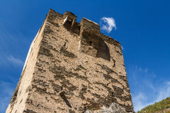 Ruins of the medieval tower in Les Bons town, Encamp Royalty Free Stock Photos