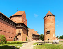 Ruins of medieval Turaida castle museum in Latvia. 13-th century Stock Photos