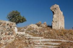 Ruins of the medieval Venetian fort Antimachia, Kos island. Greece Stock Photo