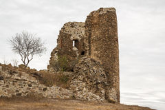 Ruins of the medieval walled monastery of Jvari Stock Photography