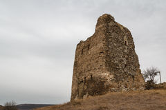 Ruins of the medieval walled monastery of Jvari Stock Photo