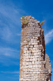 The ruins of the medieval walls in Vogue Royalty Free Stock Photography