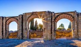 Medina Azahara, a fortified Arab Muslim medieval palace-city near Cordoba, Spain. The ruins of Medina Azahara, a fortified Arab Muslim medieval palace-city near stock images