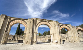 Ruins of Medina Azahara. The Great Portico at Medina Azahara medieval palace-city near Cordoba, Spain Stock Photography