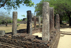 Ruins in Medirigiriya. Vatadage Mandalagiri Vihara, near Minneriya, Sri Lanka Stock Photo