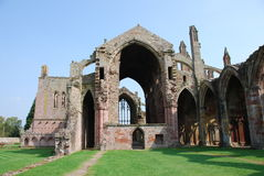 Ruins Of Melrose Abbey Stock Photography