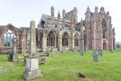 Ruins of Melrose Abbey Royalty Free Stock Image