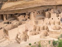 Ruins of Mesa Verde, Colorado. Ruins of cliff dwelling Indians at Mesa Verde, Colorado on sunny day Stock Photo