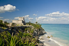 Ruins on Mexican coast Royalty Free Stock Image
