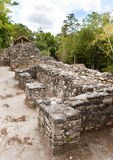 Ruins in Mexico.Kabah.Landscape in a sunny day Stock Image