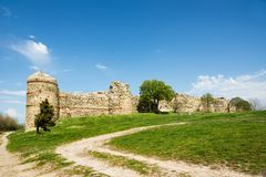 Mezek fortress. Ruins of Mezek fortress located in south Bulgaria royalty free stock photography