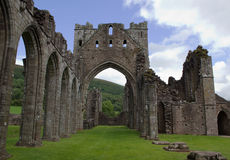 Ruins of middle age abbey in Brecon Beacons in Wales Royalty Free Stock Photography