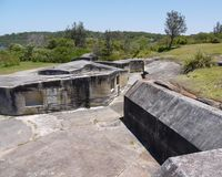 The ruins of the Middlehead fortress of Mosman Royalty Free Stock Photography
