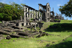 Ruins of the mile long barracks on Corregidor Island, Manila Bay, Philippines Royalty Free Stock Photography