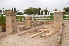 Ruins of military port in Carthage, Tunisia Stock Photography