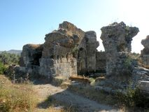 Ruins in Millet Royalty Free Stock Photo