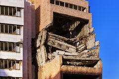 Ruins of Ministry of Defense Building from NATO Bombing  Royalty Free Stock Images