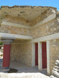 Ruins of the Minoan Palace of Knossos in Heraklion,Greece Royalty Free Stock Photos