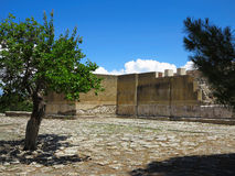 Ruins of the Minoan Palace of Knossos in Heraklion,Greece Stock Photo
