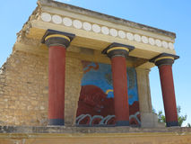 Ruins of the Minoan Palace of Knossos in Heraklion,Greece Stock Photography