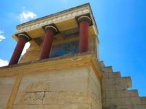 Ruins of the Minoan Palace of Knossos in Heraklion,Greece Royalty Free Stock Photo