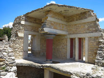 Ruins of the Minoan Palace of Knossos in Heraklion,Greece Royalty Free Stock Photography