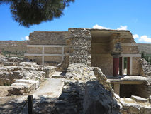 Ruins of the Minoan Palace of Knossos in Heraklion,Greece Royalty Free Stock Images