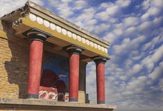 The ruins of the Minoan palaces is the archaeological site Knossos. royalty free stock images