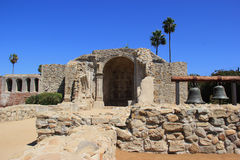 The Ruins of Mission San Juan Capistranos Great Stone Church Royalty Free Stock Photography