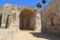 The Ruins of Mission San Juan Capistranos Great Stone Church Royalty Free Stock Images