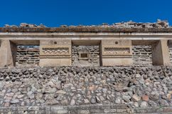 Ruins in Mitla near Oaxaca city. Mexico. Ruins in Mitla near Oaxaca city. The most important of the Zapotec culture centers in Mexico Royalty Free Stock Photo